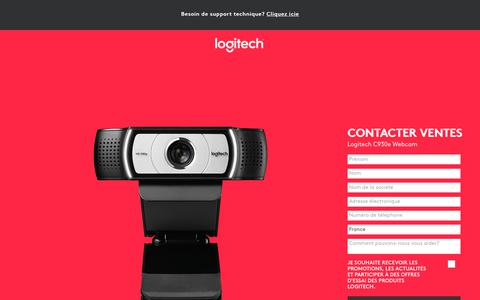 Screenshot of Landing Page logitech.com - Logitech C930e Webcam | Contact Us - captured Sept. 29, 2018