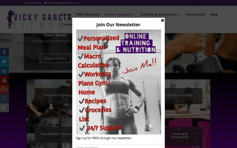 Screenshot of Services Page vickygarciafitness.com - Services | Vicky Garcia  | Personal Trainer | Nutrition Consultant - captured Sept. 20, 2018