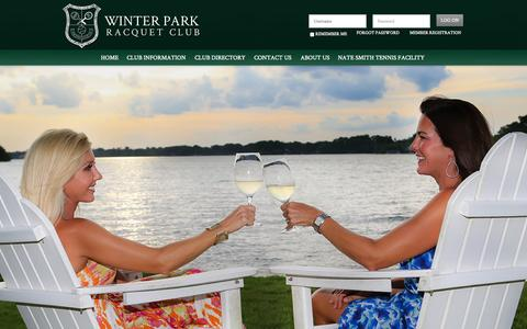 Screenshot of Home Page wprc.net - Winter Park Racquet Club - Home - captured Oct. 9, 2014