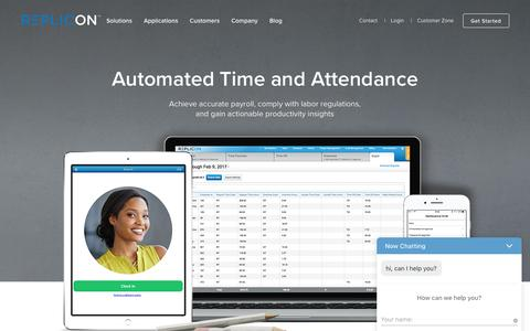 Time and Attendance Software in the Cloud - Replicon