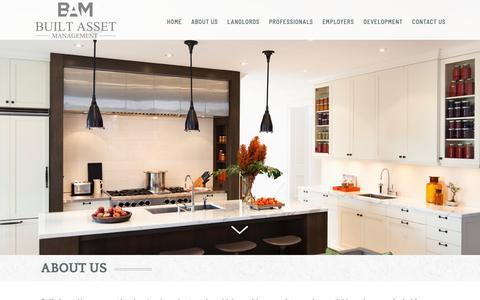 Screenshot of About Page builtassetmanagement.co.uk - About Us | Professional Homes | Built Asset Management - captured Oct. 7, 2018