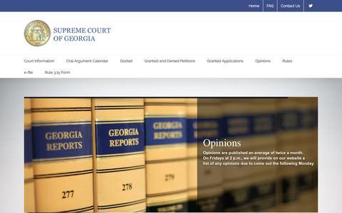 Screenshot of Home Page gasupreme.us - Supreme Court of Georgia - captured Sept. 27, 2018