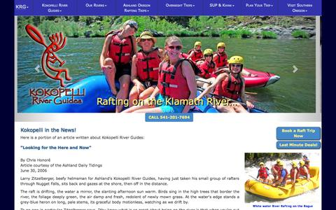 Screenshot of Press Page kokopelliriverguides.com - Articles written featuring Kokopelli River Guides owners and employees - captured Sept. 30, 2014