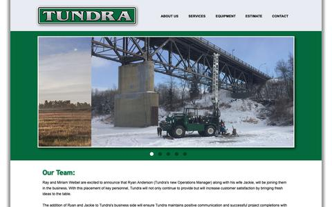 Screenshot of Team Page tundraenvirodrilling.ca - Team - Tundra Environmental Drilling Services - captured Oct. 18, 2018