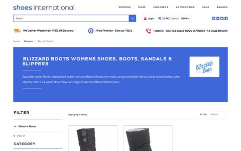 Screenshot of shoesinternational.co.uk - Womens Shoes, Boots, Sandals & Slippers | Shoes International - captured Aug. 9, 2017