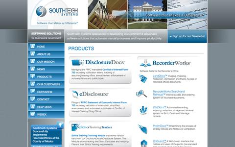 Screenshot of Products Page southtechsystems.com - South Tech Systems Products | SouthTech Systems™ - captured Oct. 20, 2018