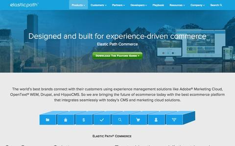 Screenshot of Products Page elasticpath.com - Ecommerce Platform for Enterprise, Retail & Digital Commerce - captured June 16, 2015