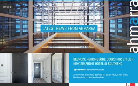 Screenshot of Press Page ahmarra.co.uk - Glazed Fire Doors | Interior Fire Doors, Portsmouth, South, Hampshire | Ahmarra - captured Oct. 3, 2018