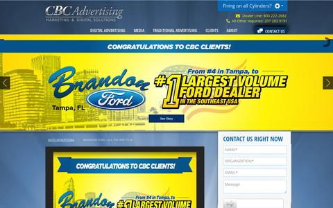Screenshot of Site Map Page cbcads.com - CBC Automotive Advertising | Sitemap - captured Oct. 1, 2014