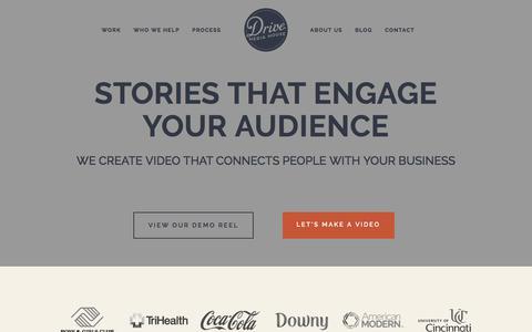 Screenshot of Home Page drivemediahouse.com - Drive Media House   Cincinnati Video Production Services - captured June 3, 2017