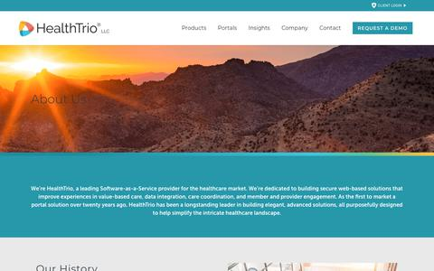 Screenshot of About Page healthtrio.com - Health Trio |   About Us - captured June 20, 2019