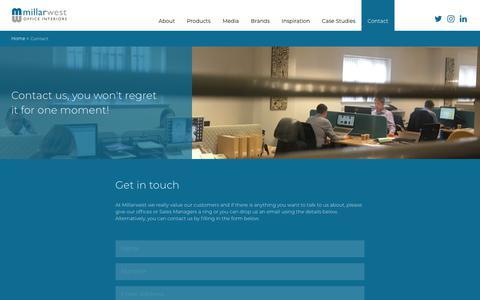 Screenshot of Contact Page millarwest.co.uk - Contact   Millar West - captured Oct. 18, 2018
