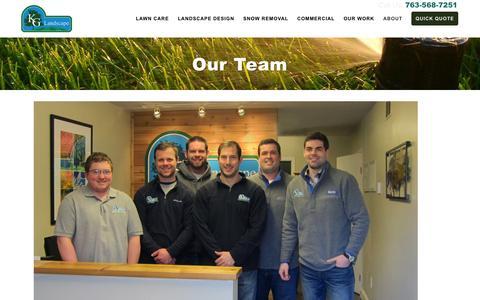 Screenshot of Team Page kglandscape.com - Our Team | KG Landscape - captured Feb. 12, 2016