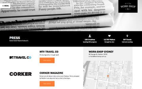 Screenshot of Press Page work-shop.com.au - Press - Work-Shop - captured Oct. 7, 2014