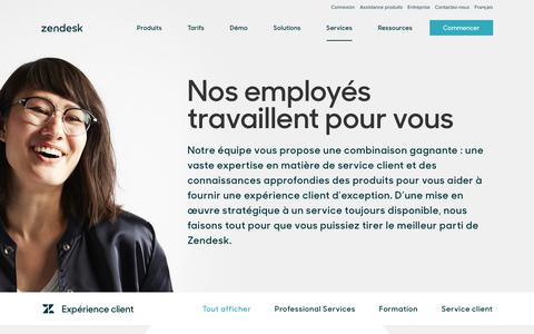 Screenshot of Services Page zendesk.fr - Expérience client | Zendesk - captured Oct. 5, 2018