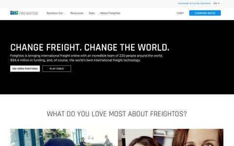 Screenshot of Jobs Page freightos.com - Careers | Freightos - captured Aug. 8, 2019