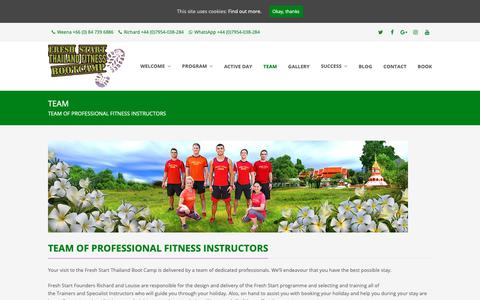 Screenshot of Team Page thailandfitnessbootcamp.com - Team Of Professional Fitness Instructors | Thailand Fitness Bootcamp - captured Oct. 11, 2018