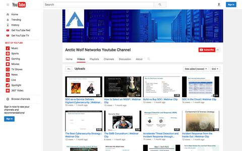 Arctic Wolf Networks Youtube Channel  - YouTube