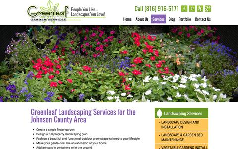 Screenshot of Services Page greenleafkc.com - Landscaping and Gardening service| Greenleaf Garden Services - captured Sept. 22, 2017