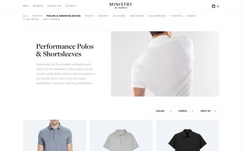 Men's Polos | Ministry of Supply