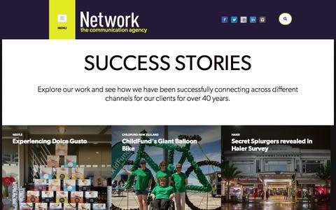 Screenshot of Case Studies Page networkcommunication.co.nz - Network Communication | Case Studies - captured Nov. 5, 2014