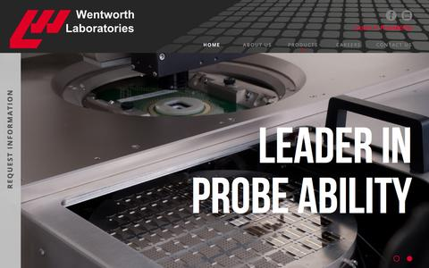 Screenshot of Home Page wentworthlabs.com - Wentworth Labs | Home - captured Nov. 29, 2016