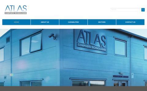 Screenshot of Home Page atlascomposites.com - UK composites manufacturer, composite manufacturing, aerospace - captured Oct. 4, 2018