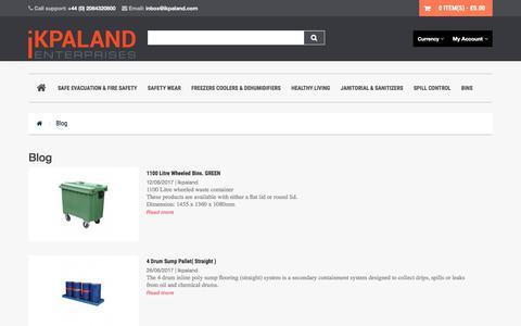 Screenshot of Blog ikpaland.com - Blog - captured June 29, 2017