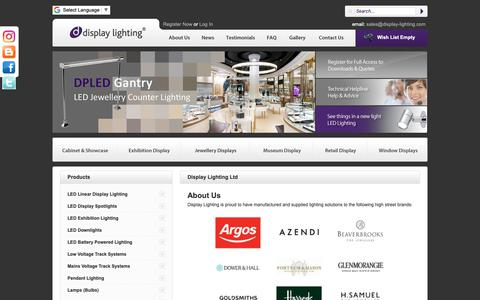 Screenshot of About Page display-lighting.com - jewellery display lighting, Shop Window Lighting and Display Cabinet Lighting - captured Oct. 9, 2018