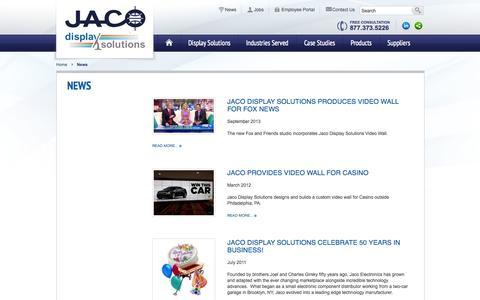 Screenshot of Press Page jacodisplays.com - News   - captured Oct. 3, 2014