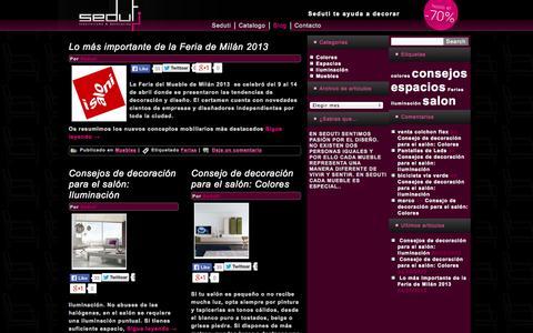Screenshot of Blog seduti.es - Seduti. Interiorismo y decoración - captured Sept. 30, 2014