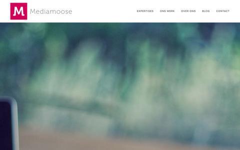 Screenshot of Home Page mediamoose.nl - Full Service Internetbureau Alkmaar - Apps - Websites | Mediamoose - captured Sept. 30, 2014