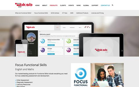 Screenshot of Products Page bksb.co.uk - Skills Solutions | bksb - captured July 6, 2017