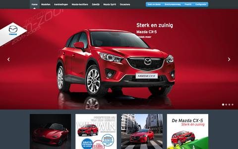 Screenshot of Contact Page mazda.nl - Contact Mazda Team - captured Oct. 27, 2014