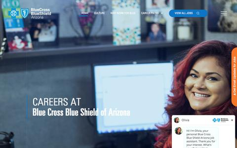 Screenshot of Jobs Page azblue.com - Careers at Blue Cross Blue Shield of Arizona - captured Nov. 15, 2019