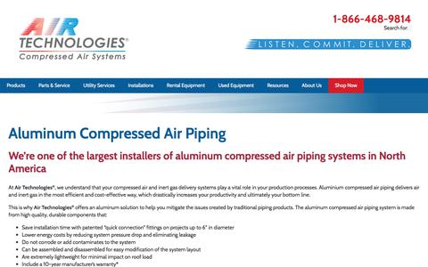 Aluminum Compressed Air Piping | Air Technologies®
