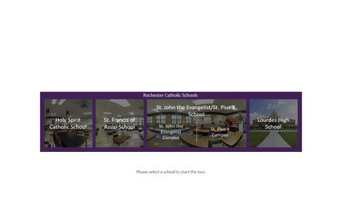 Screenshot of Menu Page rcsmn.org - Rochester Catholic Schools - Menu - captured July 1, 2018
