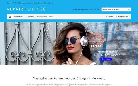 Screenshot of Home Page repair-clinic.nl - Repair Clinic - Reparaties binnen 60 min. zonder afspraak! - captured Nov. 9, 2017