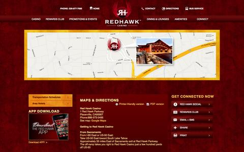 Screenshot of Maps & Directions Page redhawkcasino.com - Maps & Directions | Red Hawk Casino - captured Sept. 22, 2014