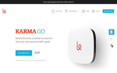 Screenshot of Products Page yourkarma.com - Karma Go | Karma - captured May 6, 2016