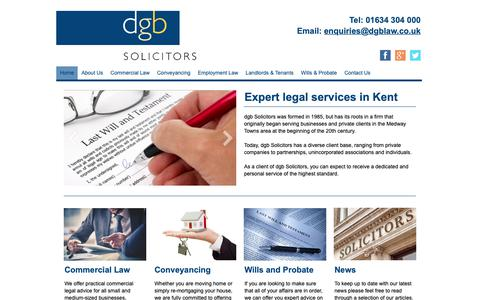 Screenshot of Home Page dgblaw.co.uk - Expert legal services in Kent | dgb Solicitors - captured Oct. 9, 2018