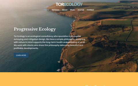 Screenshot of Home Page torecology.co.uk - Ecological Consultancy | Tor Ecology - A team of progressive ecologists - captured Oct. 20, 2018