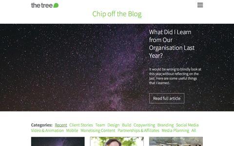 Screenshot of Blog thisisthetree.com - Chip off the Blog - captured Feb. 15, 2016