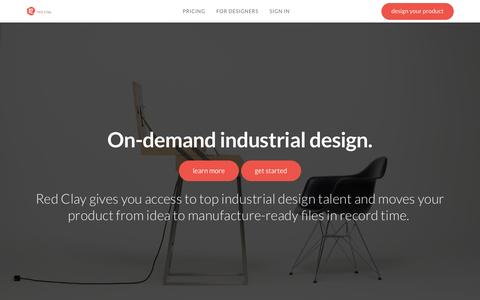Screenshot of Home Page redclaydesign.com - Red Clay :: The Marketplace for Product Design - captured Dec. 22, 2015