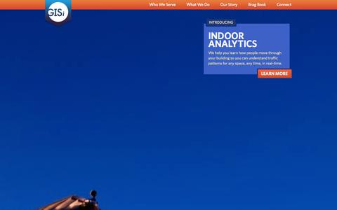Screenshot of Home Page gisinc.com - GISi - Creating Insight Through Location Technology - captured Oct. 2, 2014