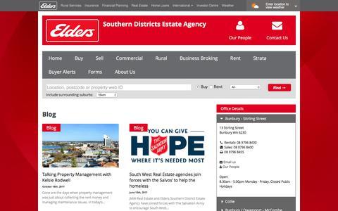 Screenshot of Blog eldersrealestate.com.au - Blog Archives | Southern Districts Estate Agency - captured July 1, 2018