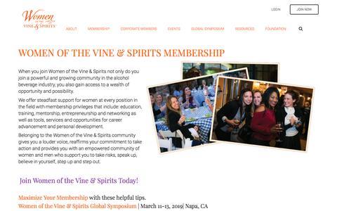 Screenshot of Signup Page womenofthevine.com - Corporate & Individual Membership - captured Sept. 20, 2018