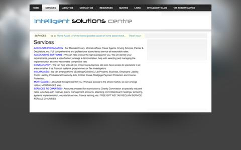 Screenshot of Services Page intelligent-solutions-centre.co.uk - Services - captured Oct. 6, 2014