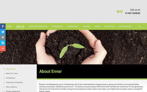 Screenshot of About Page envar.co.uk - About Us | Envar Composting - captured May 19, 2017