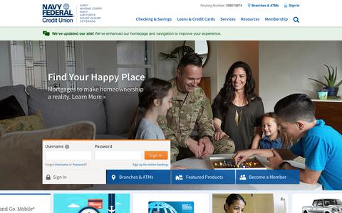 Navy Federal Credit Union | Banking, Loans, Mortgages & Credit Cards